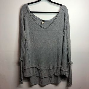 Free people we the free oversized long sleeve top